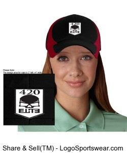 Adult Dry Zone Nylon Colorblock Cap Design Zoom